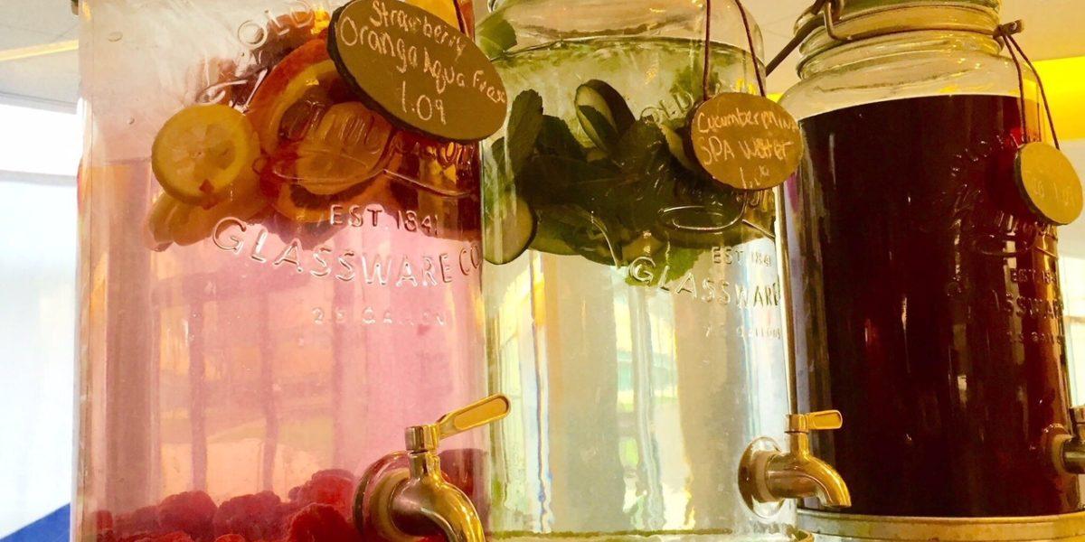 Strawberry Orange Spa Water Sweet Tea