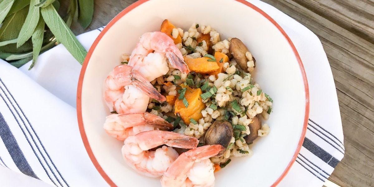 Barley Risotto Shrimp Squash Mushroom Hi
