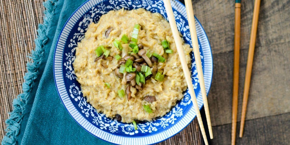 Brown Rice Congee Roasted Mushrooms 7