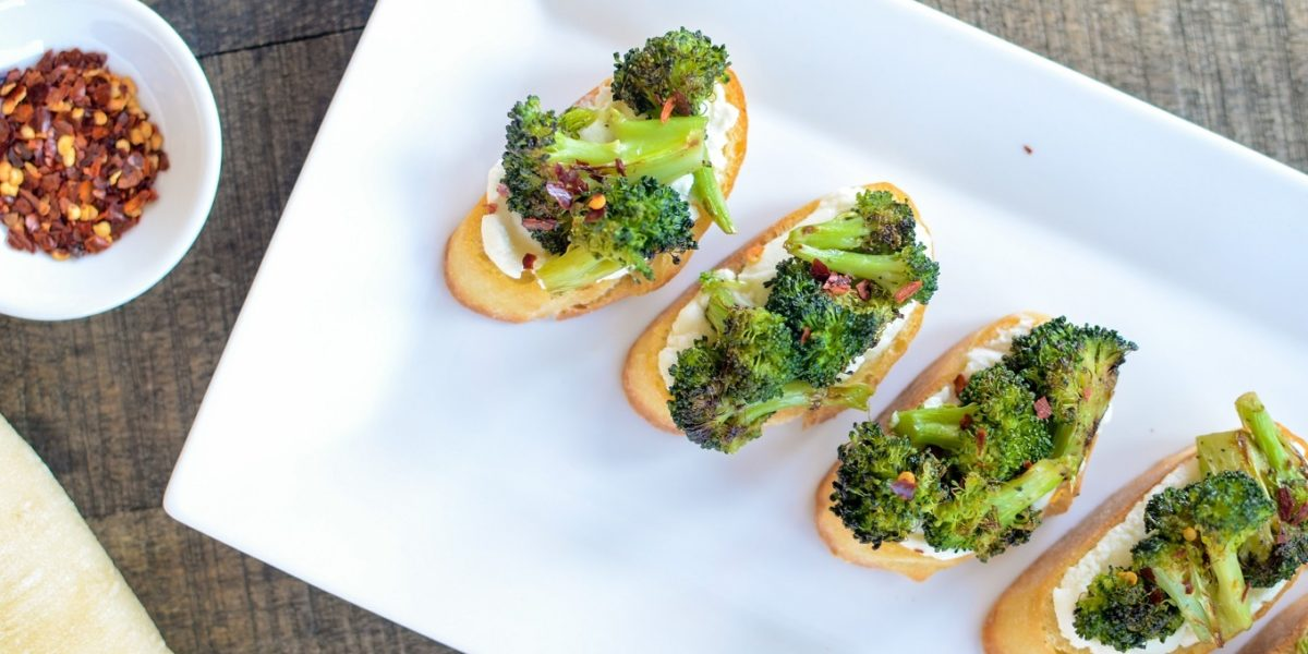 Charred Broccoli Crostini