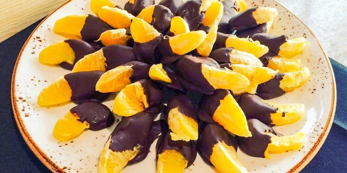 Chocolate Dipped Oranges Hi Res