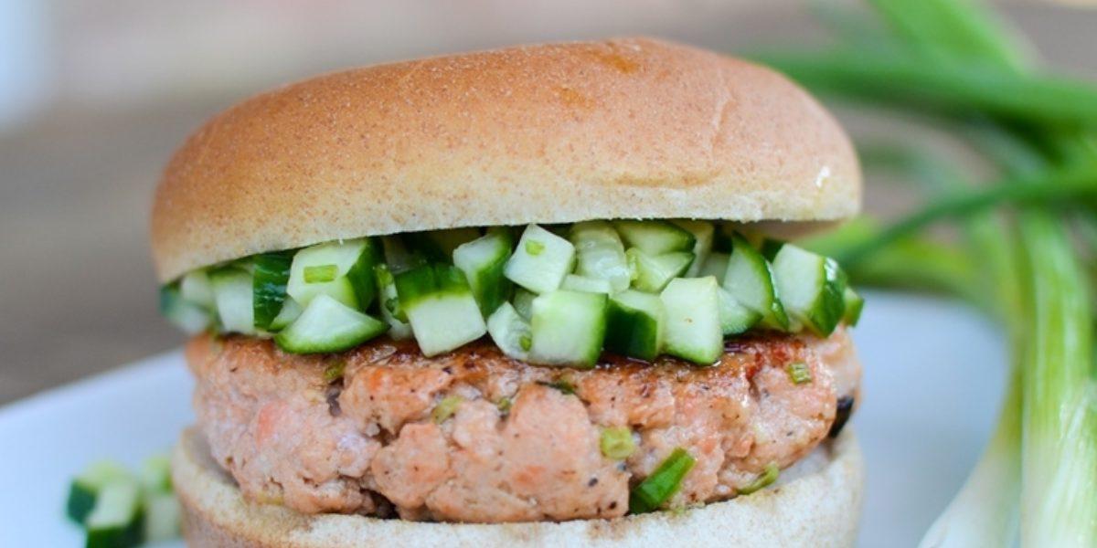 Harissa Salmon Burger