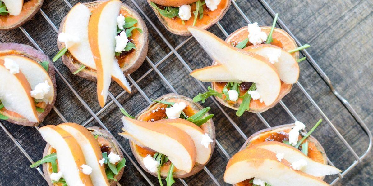 Sweet Potato Pear Crostini 4