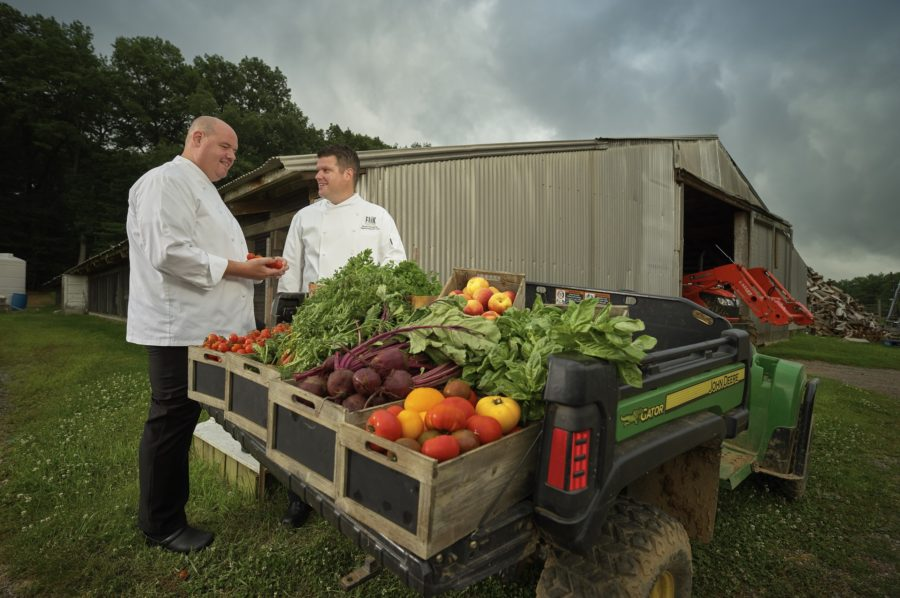 Chefs At Produce Truck