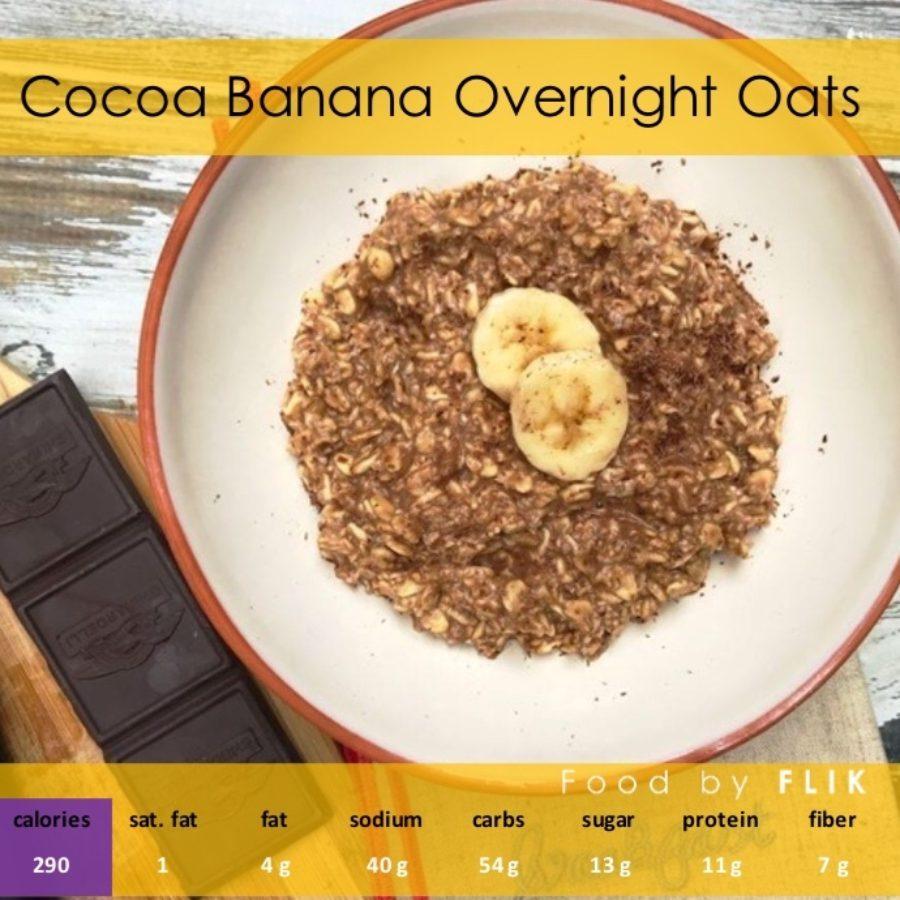 Nutrition Facts Cocoa Banana