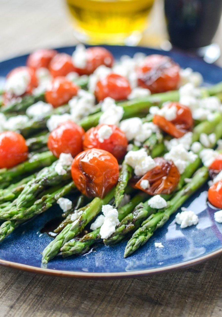 Asparagus Tomatoes Goat Cheese