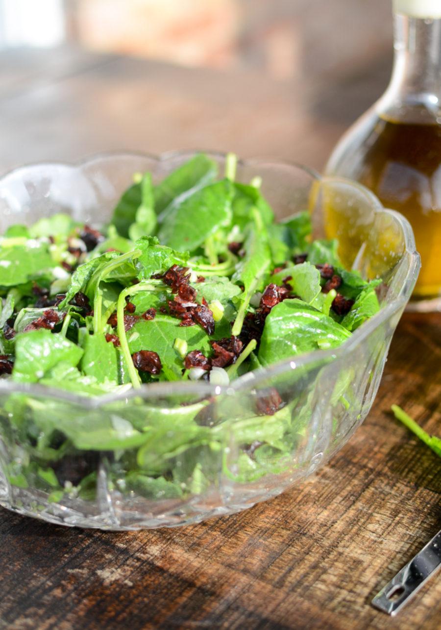 Baby Kale Currant Lemon Salad