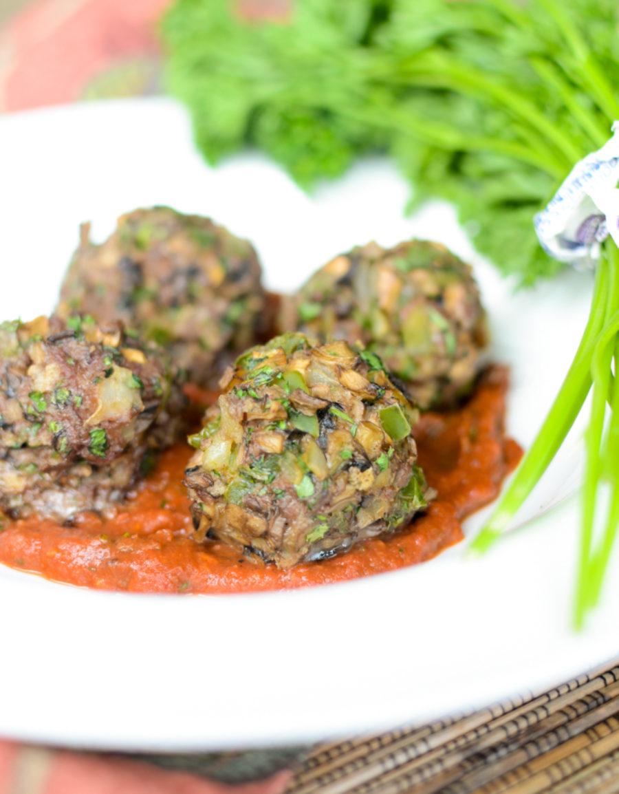 Beef Mushroom Meatballs