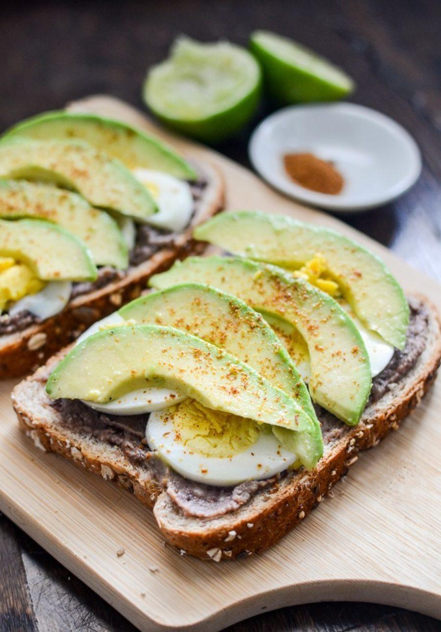 Black Bean Avocado Egg Toast