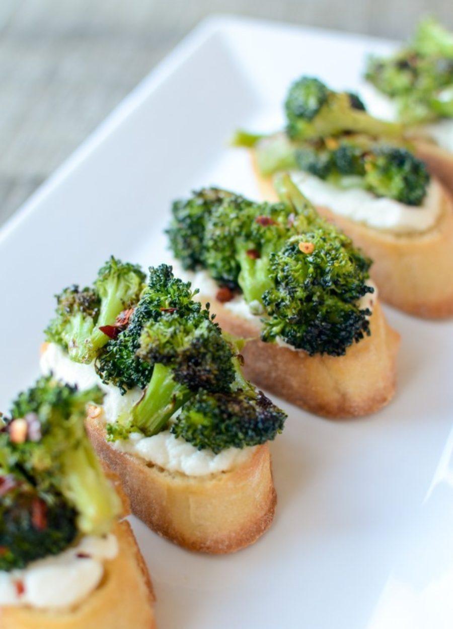 Charred Broccoli Crostini 3