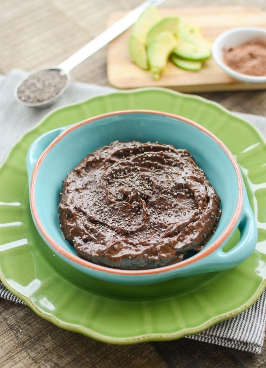 Chocolate Chia Avocado Pudding
