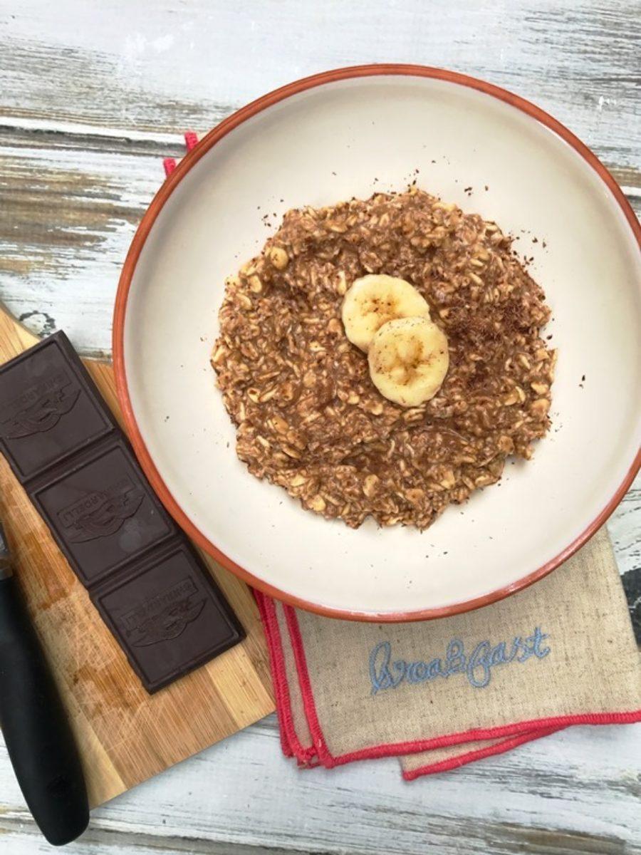 Cocoa Banana Overnight Oats