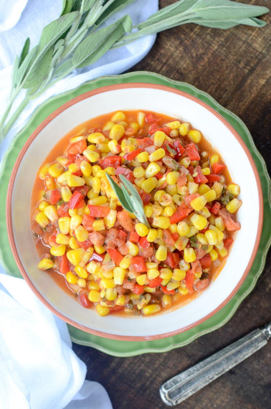 Corn Pepper Tomato Saute 6