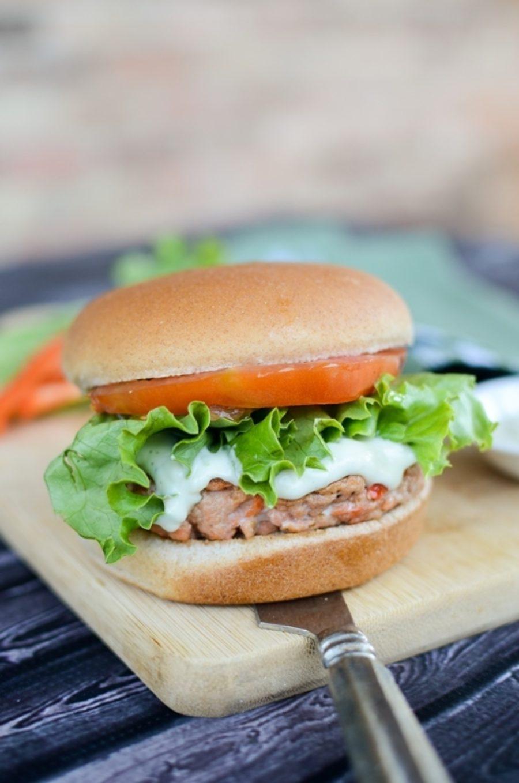 Salmon Burger Wasabi Mayo