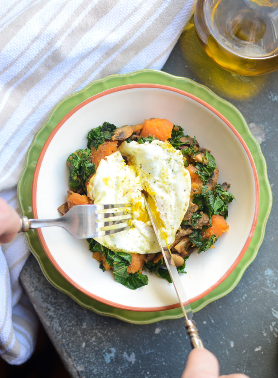 Sweet Potato Kale Hash 3