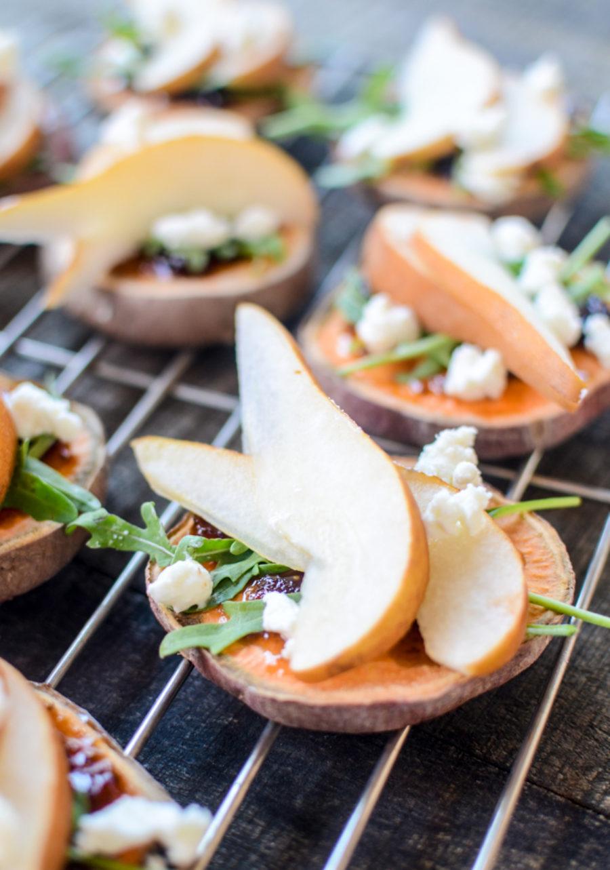 Sweet Potato Pear Crostini 2