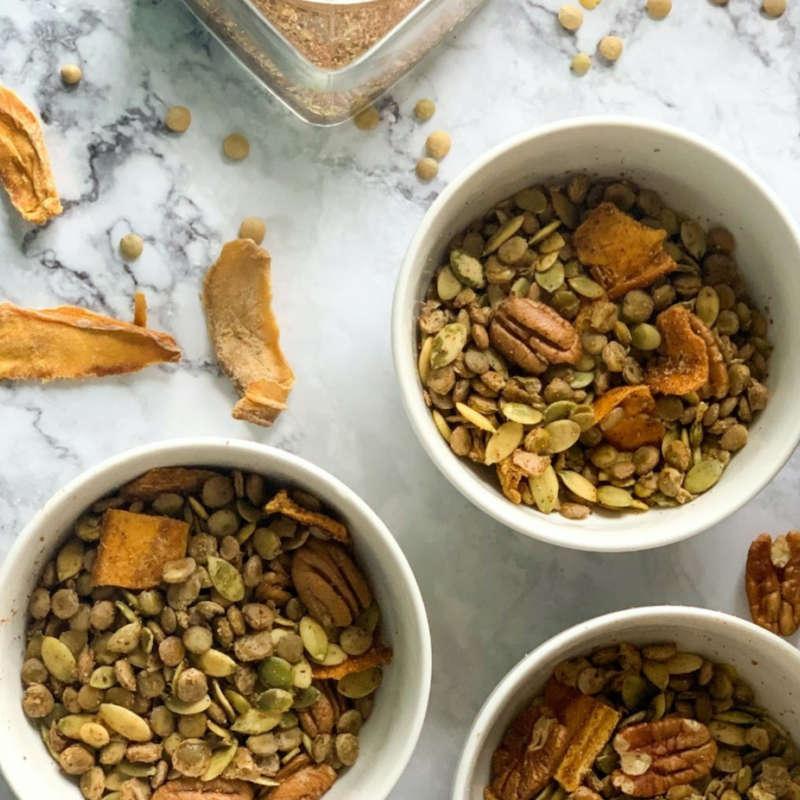 Savory Lentil Pecan Trail Mix