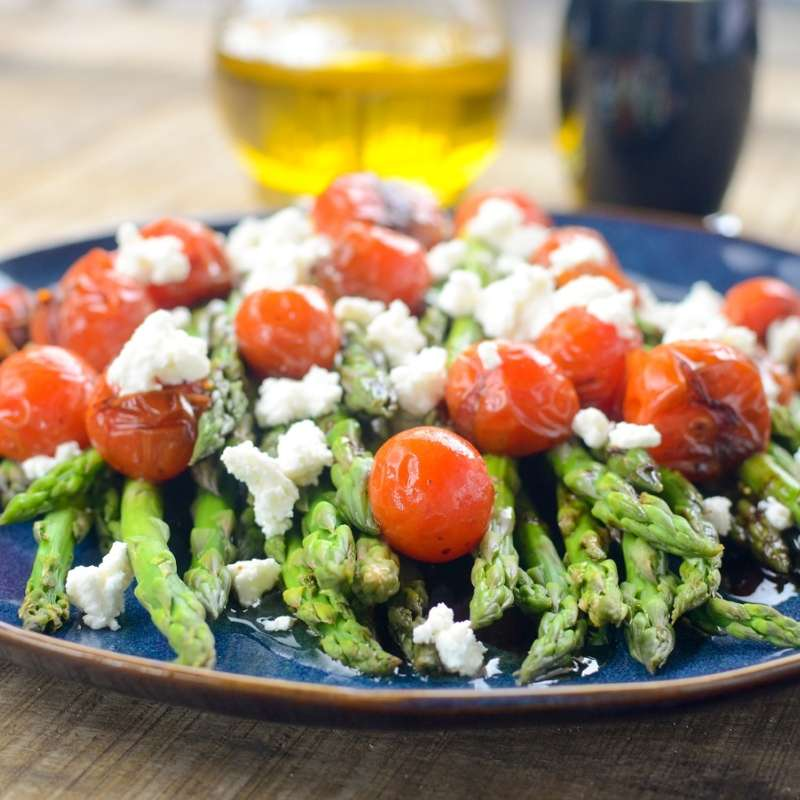 Asparagus Tomatoes Goat Cheese 8