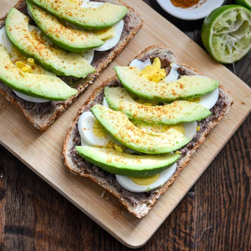 Black Bean Avocado Egg Toast 4