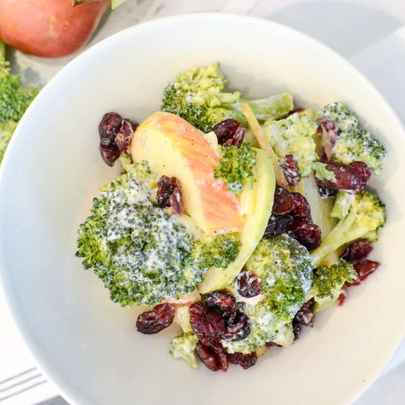 Broccoli Apple Salad Greek Yogurt
