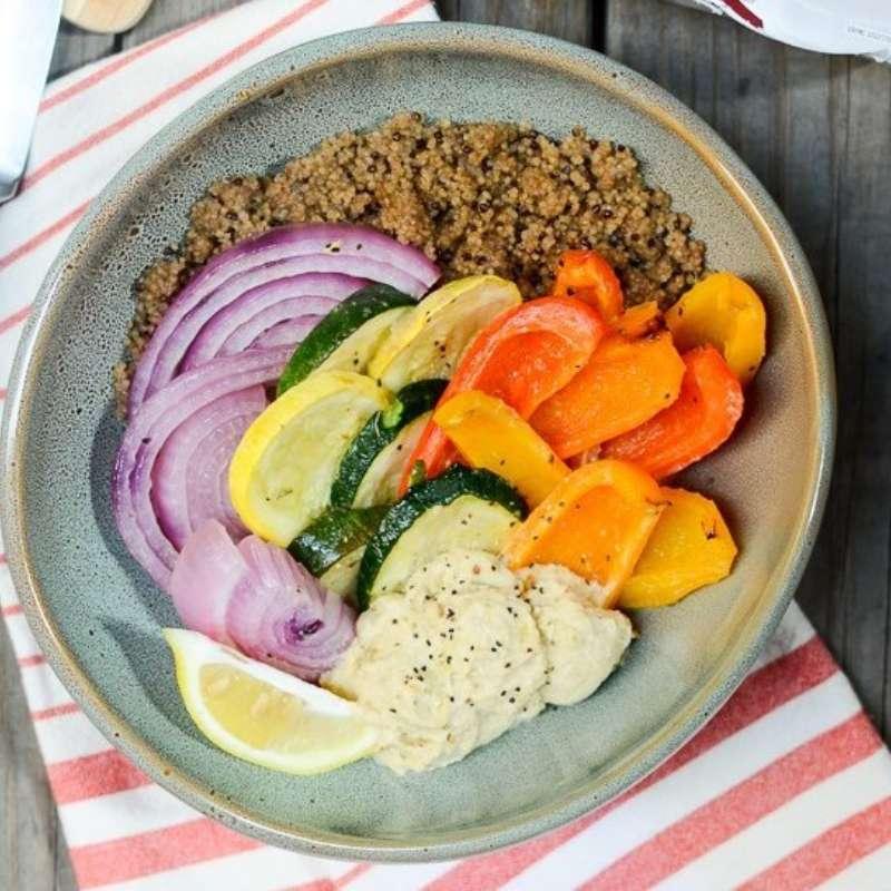 Hummus Quinoa Bowl