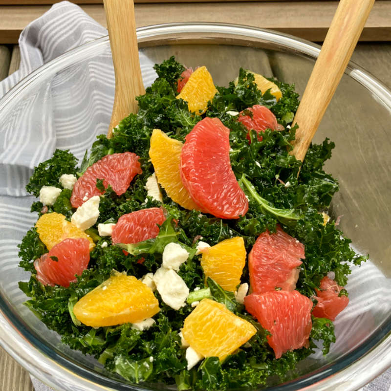 Kale Grapefruit Orange Salad 680