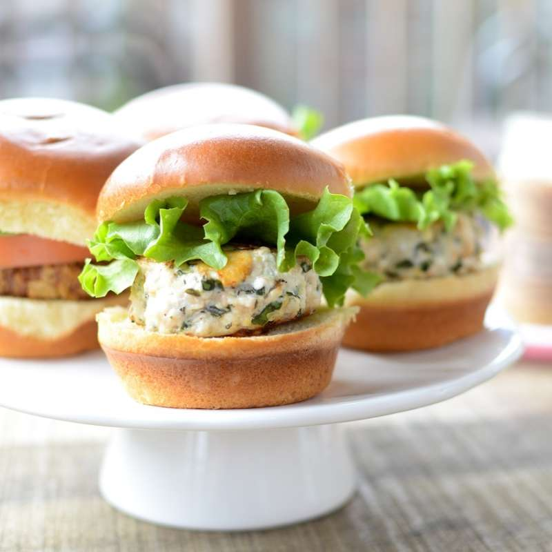 Lemon Feta Chicken Sliders 2