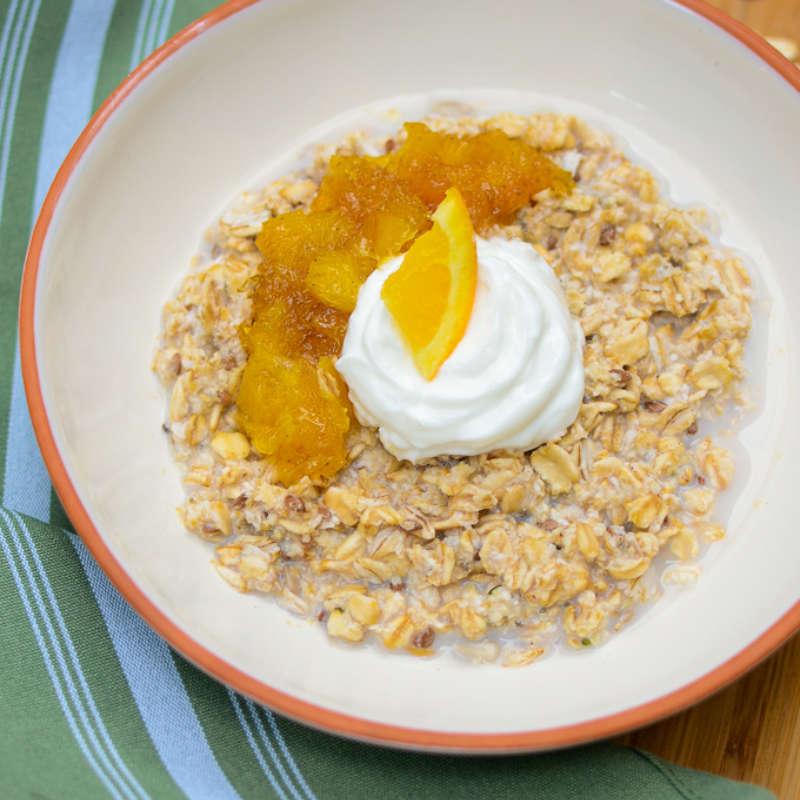 Orange Vanilla Overnight Oats