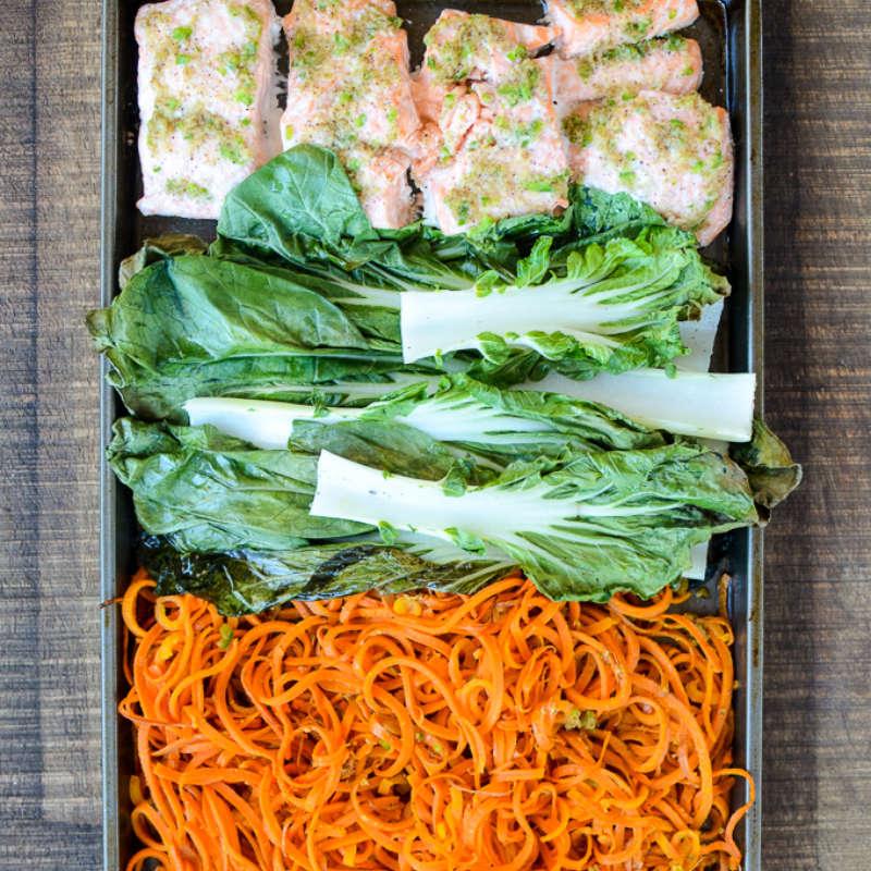 Salmon Bok Choy Sweet Potato