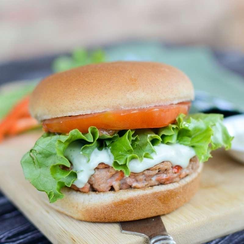 Salmon Burger Wasabi Mayo Hi Res