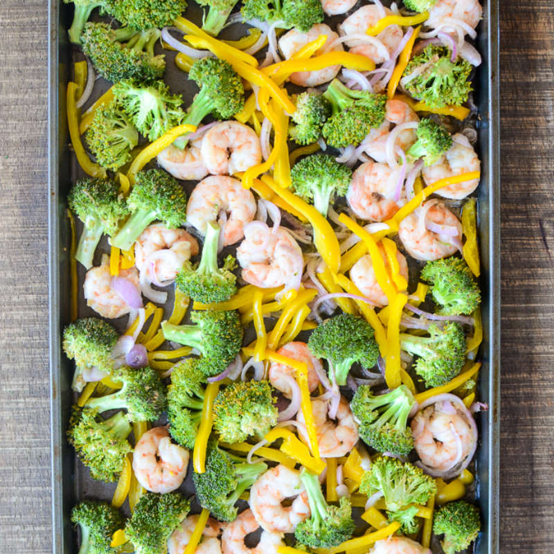 Sheet Pan Ginger Honey Shrimp