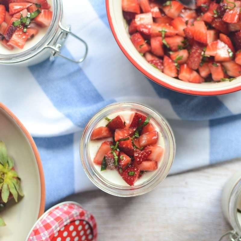 Strawberry Basil Panna Cotta Hres